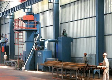 Seri Q69 Steel Shot Blasting Equipment Untuk Suku Cadang Baja Derusting High Speed